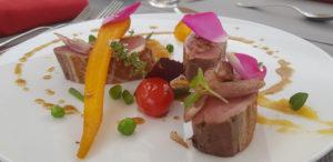 Magret de canard :plat pour le menu de la route de la rose
